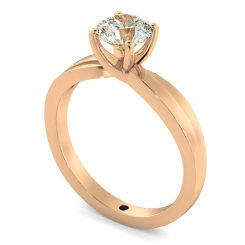 HRR793 Infinity Twist Round cut Diamond Engagement Ring - rose