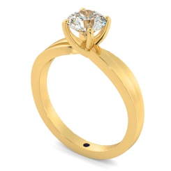 HRR793 Infinity Twist Round cut Diamond Engagement Ring - yellow