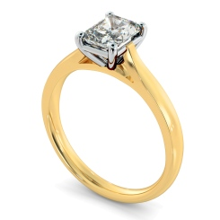 HRRA1143 Radiant Solitaire Diamond Ring - yellow