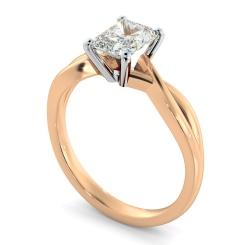 HRRA1149 Radiant Cut Infinity Diamond Engagement Ring - rose