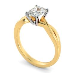 HRRA1149 Radiant Cut Infinity Diamond Engagement Ring - yellow