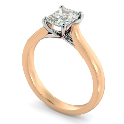 HRRA1151 4 Prong Radiant cut Solitaire Diamond Ring - rose