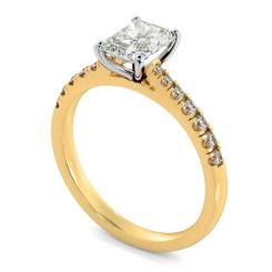 HRRASD1159 Radiant Shoulder Diamond Ring - yellow