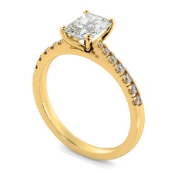 HRRASD1159 Radiant Shoulder Diamond Ring - yellow