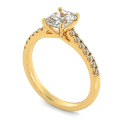 HRRASD1165 Radiant Shoulder Diamond Ring - yellow