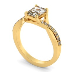 HRRASD1167 Radiant Shoulder Diamond Ring - yellow