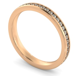 VOGUE Round cut Full Eternity Ring - rose