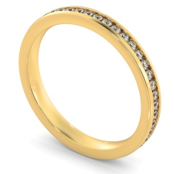 VOGUE Round cut Full Eternity Ring - yellow