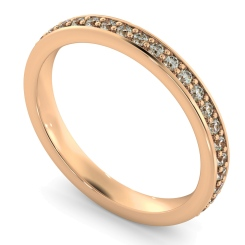 ANTLIA Micro Pave set Full Eternity Ring - rose