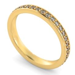 ANTLIA Micro Pave set Full Eternity Ring - yellow