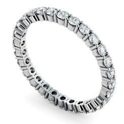 VOLANS Round cut Full Diamond Eternity Band - white