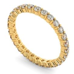 VOLANS Round cut Full Diamond Eternity Band - yellow