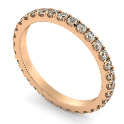 PEGASUS Round cut Full Diamond Eternity Ring - rose