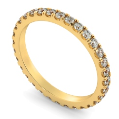 PEGASUS Round cut Full Diamond Eternity Ring - yellow