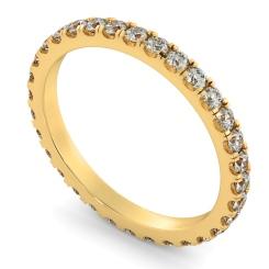 PEGASUS Round cut Full Diamond Eternity Ring - yellow