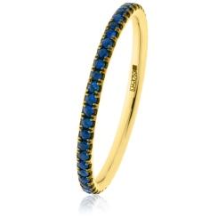 HRRGBS997 Blue Sapphire Full Eternity Ring - yellow