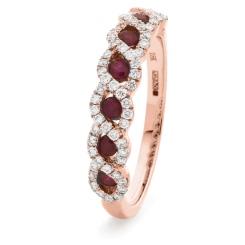 HRRGRY1000 Ruby & Diamond Designer Eternity Ring - rose