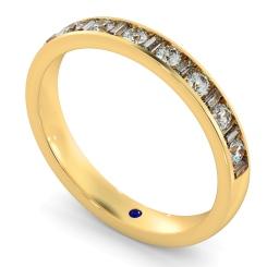 HRRHE1005 Round & Baguette Half Eternity Diamond Ring - yellow