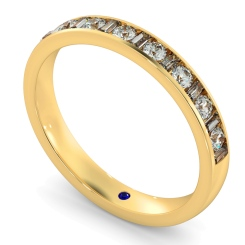 HRRHE1005 Round & Baguette Half Eternity Diamond Ring - yellow