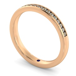AURIGA Round cut Half Eternity Ring - rose