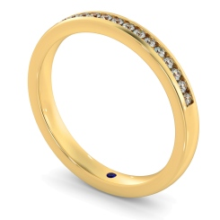AURIGA Round cut Half Eternity Ring - yellow