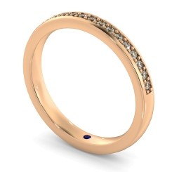 APUS Micro Pave set Half Eternity Ring - rose