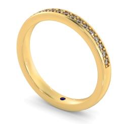APUS Micro Pave set Half Eternity Ring - yellow