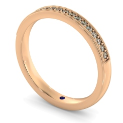 PAVO Round cut Vintage Half Eternity Band - rose