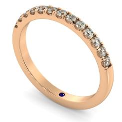 PHOENIX Round cut Half Diamond Eternity Ring - rose