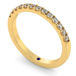 PHOENIX Round cut Half Diamond Eternity Ring - yellow