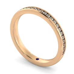 AURIGA 60% Round cut Half Eternity Ring - rose