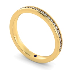 AURIGA 60% Round cut Half Eternity Ring - yellow