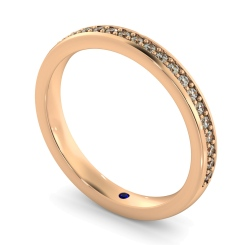 APUS 60% Micro Pave set Half Eternity Ring - rose