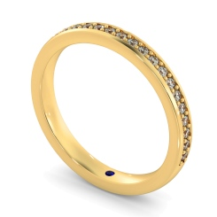 APUS 60% Micro Pave set Half Eternity Ring - yellow