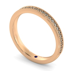 PAVO 60% Round cut Vintage Half Eternity Band - rose