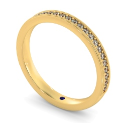 PAVO 60% Round cut Vintage Half Eternity Band - yellow