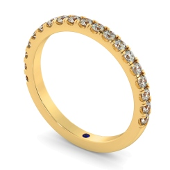 PHOENIX 60% Round cut Half Diamond Eternity Ring - yellow