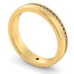 HYDRA 60% Offset Round cut Half Diamond Eternity Band - yellow