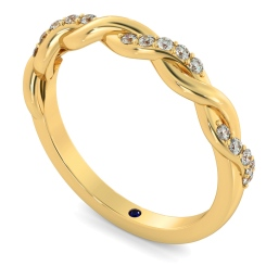 POLARIS Crossover Twisted Round cut Diamond Eternity Ring - yellow
