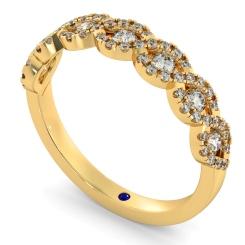 SIRIUS Round cut Crossover Designer Diamond Eternity Ring - yellow