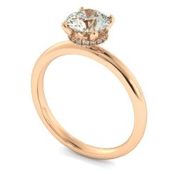 HRRSD2360 Hidden Halo Diamond Ring - rose