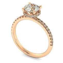 HRRSD2361 Hidden Halo Diamond Ring - rose