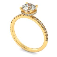 HRRSD2361 Hidden Halo Diamond Ring - yellow