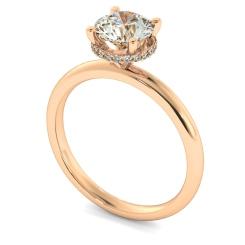 HRRSD2362 Hidden Halo Diamond Ring - rose