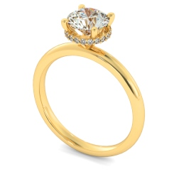 HRRSD2362 Hidden Halo Diamond Ring - yellow