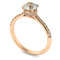 HRRSD2364 Hidden Halo Diamond Ring - rose