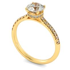 HRRSD2364 Hidden Halo Diamond Ring - yellow