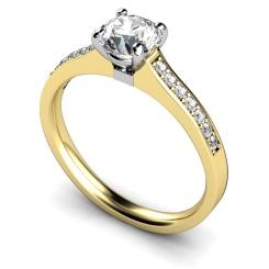 HRRSD457 Round Shoulder Diamond Ring - yellow