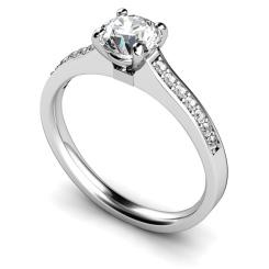 HRRSD457 Round Shoulder Diamond Ring - white