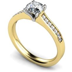 HRRSD581 Round Shoulder Diamond Ring - yellow